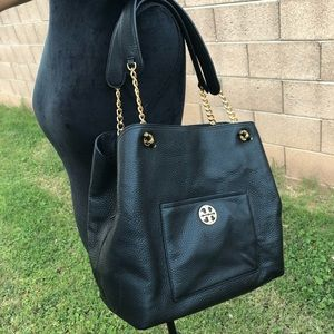 Chelsea Slouchy Leather Tote TORY BURCH